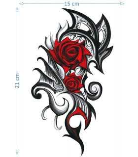 Red Tribal Rose