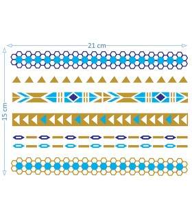 Gold & Blue Laces II
